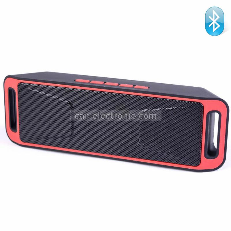 Bluetooth колонка K812A, FM радио, слот за USB/micro SD CARD/AUX, червена