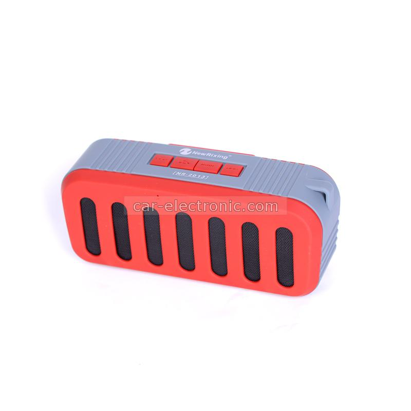 Bluetooth колонка NR-2013, Bluetooth, FM радио, AUX, micro SD Card, Сив/Червен