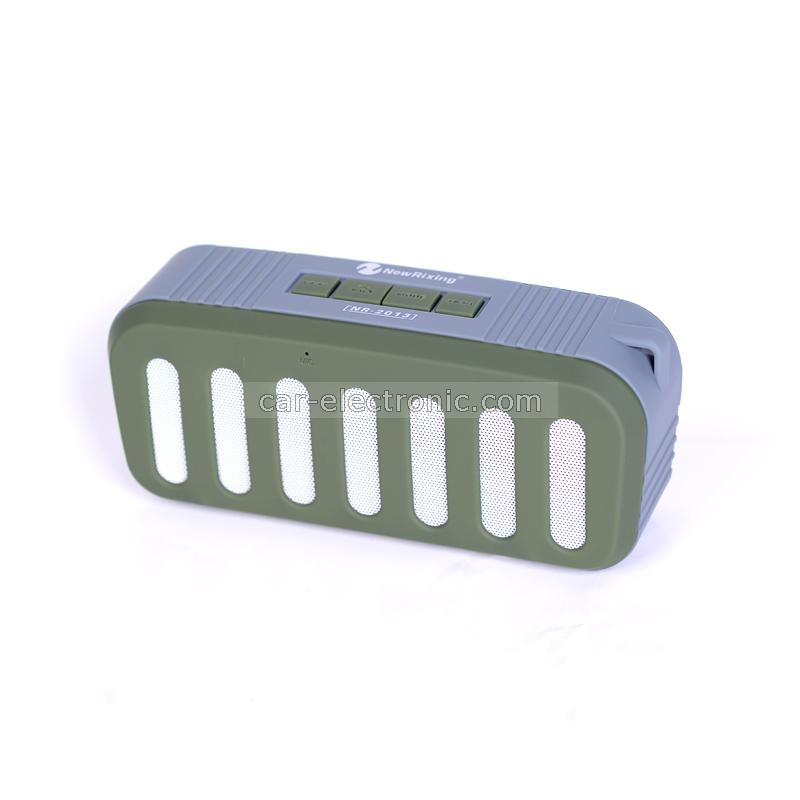 Bluetooth колонка NR-2013, Bluetooth, FM радио, AUX, micro SD Card, Сив/Зелен