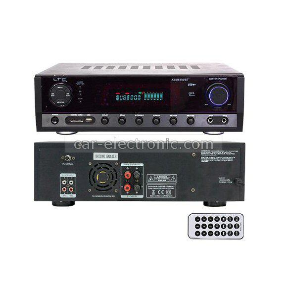 Домашен усилвател ATM6500, Bluetooth, USB SD card player, 2x50W