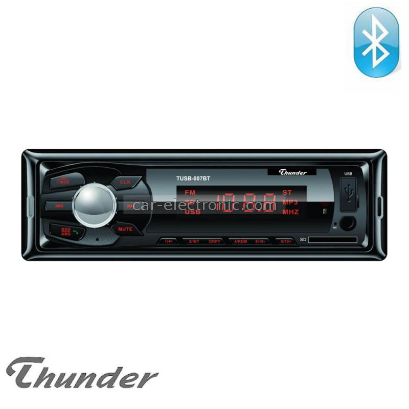 Радио за кола с Bluetooth Thunder TUSB-007BT, USB SD AUX FM радио, 4x20W